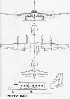 potez840 3v model airplane plan