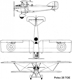 potez 25toe 3v model airplane plan