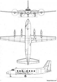 potez 840 model airplane plan
