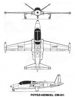 potez heinkel91 3v model airplane plan