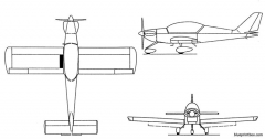 pottier p 250s model airplane plan