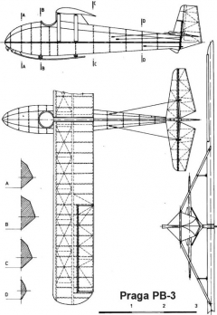 praga pb3 3v model airplane plan