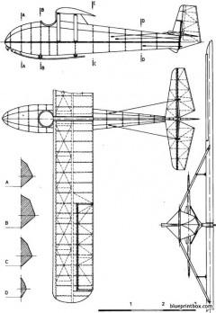 praga pb 3 model airplane plan