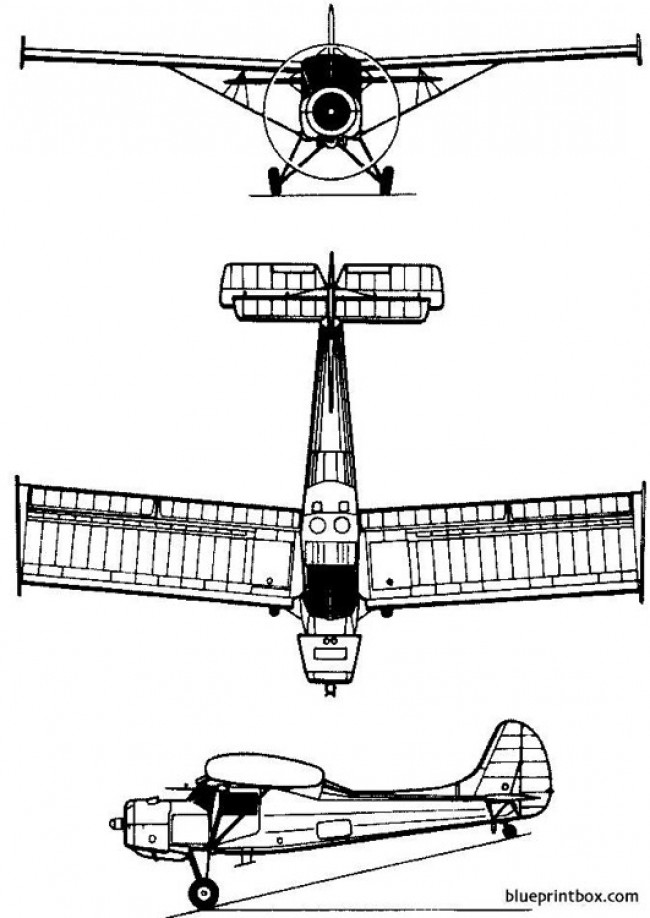 pzl 101 gawron 1958 poland model airplane plan