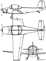 pzl 102b 1958 poland model airplane plan