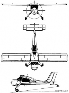 pzl 104 wilga 1962 poland model airplane plan