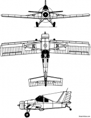 pzl 106 kruk 1973 poland model airplane plan