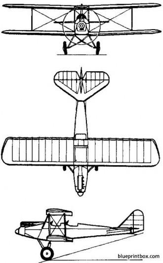 pzl 5 1928 poland model airplane plan
