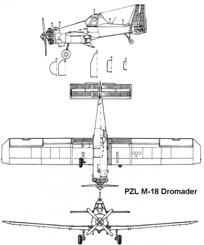 pzl dromader 3v model airplane plan