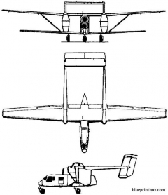 pzl mielec m 15 belphegor 1973 poland model airplane plan