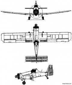 pzl mielec m 18 dromader 1976 poland model airplane plan