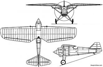 pzl p1 1929 poland model airplane plan
