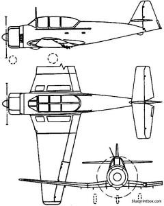 pzl ts 8 bies 1955 poland model airplane plan