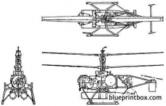 qh 50c drone anti submarine helicopter dash model airplane plan