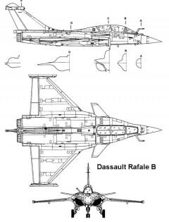 rafale 1 3v model airplane plan