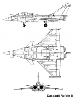 rafale 2 3v model airplane plan