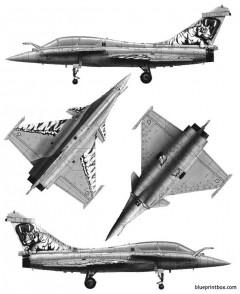 rafale b model airplane plan