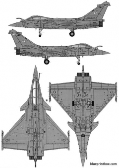 rafale c model airplane plan
