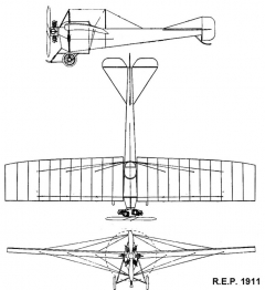 rep1911 3v model airplane plan