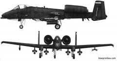 republic a 10 thunderbolt ii model airplane plan