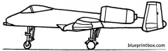republic a 10a thunderbolt ii model airplane plan