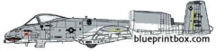 republic a 10a thunderbolt ii 2 model airplane plan