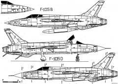 republic f 105 thunderchief 8 model airplane plan
