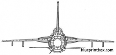 republic f 105 thunderchief 9 model airplane plan