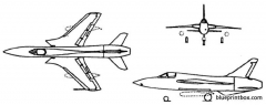 republic f 105d thunderchief model airplane plan