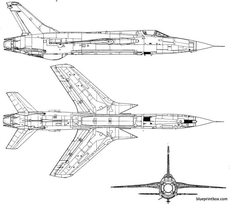 republic f 105d thunderchief 2 model airplane plan