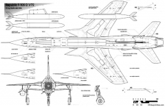 republic f 105d thunderchief 4 model airplane plan