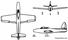 republic f 84 thunderjet model airplane plan