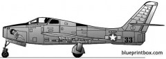 republic f 84f thunderstreak 3 model airplane plan