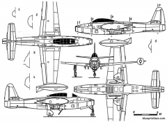 republic f 84g thunderjet model airplane plan