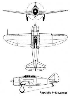 republic p43 3v model airplane plan