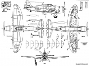 republic p 47b thunderbolt model airplane plan