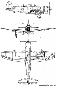 republic p 47nthunderbolt model airplane plan