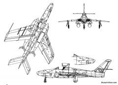 republic rf 84f thunderflash model airplane plan