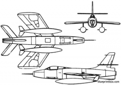 republic xf 91 thunderceptor 1949 usa model airplane plan