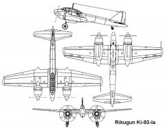 rikugun ki93 3v model airplane plan