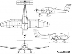 robin3140 3v model airplane plan