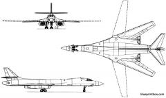 rockwell b 1 lancer 1983 usa model airplane plan