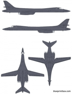 rockwell b 1b lancer model airplane plan