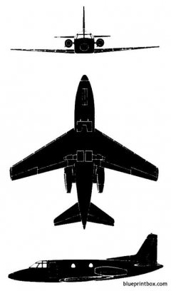 rockwell bizjet 001 model airplane plan