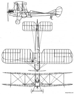 royal aircraft factory be2c 1915 model airplane plan