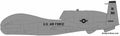 rq 4b global hawk model airplane plan
