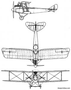 rumpler c 4 model airplane plan