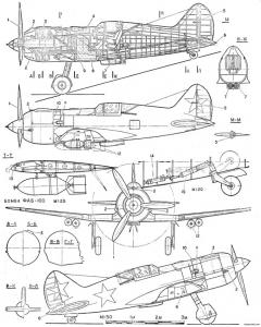 russia i 185 model airplane plan
