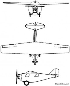 rwd 1 2 3 4 7 1928 poland model airplane plan