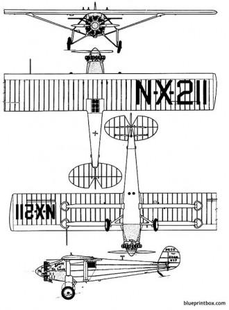 ryan nypspirit of saint louis model airplane plan